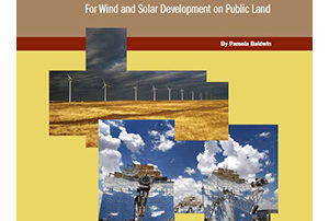 Fair Market Value for Wind and Solar Development on Public Land