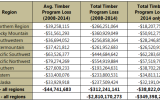 National Forest System Timber Financials