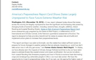 New Report: States Unprepared for Future Extreme Weather Events