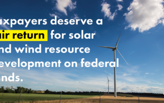 Taxpayers in Nevada deserve a fair return for renewable energy development on public lands