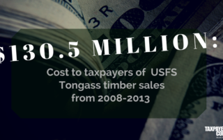U.S. Forest Service's Tongass Timber Plan Proposes Increased Costs for Taxpayers