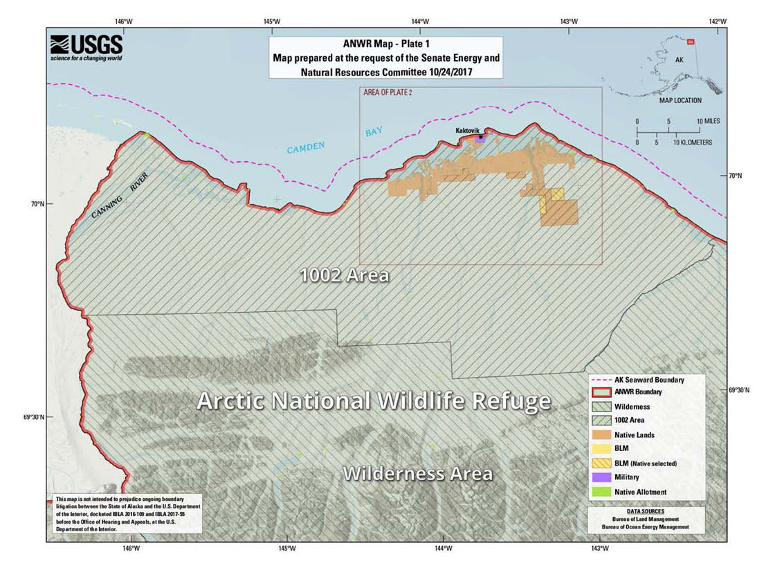 Anwr Alaska Map.Arctic Refuge Leasing Revenues Don T Add Up Taxpayers For Common Sense