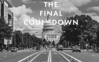 "picture of the US capitol with ""the final countdown"" overlayed"