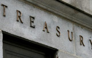 facade on the us dept. of treasury