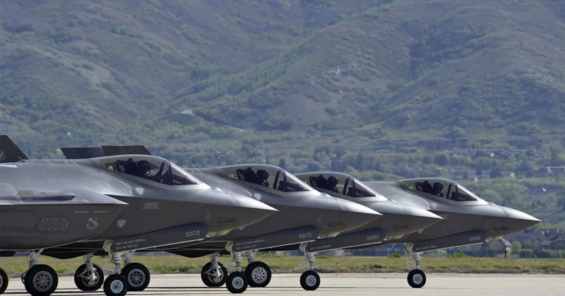 Four F-35's in formation