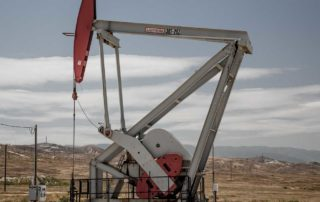 a red pumpjack