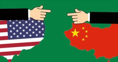 Graphic depicting trade war