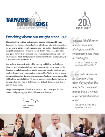 2015 Annual Report - Taxpayers for Common Sense