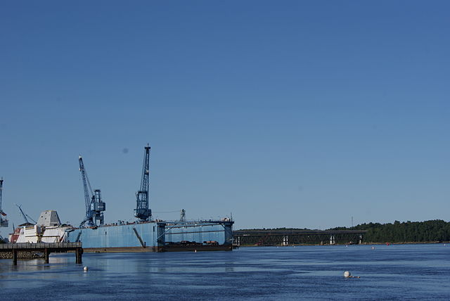 View of Bath Iron Works